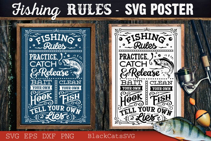 Fishing rules svg