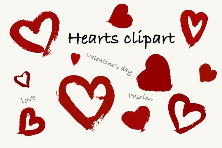 Grunge heart clipart. Valentines day hearts clip art
