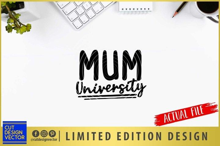 Mum University SVG