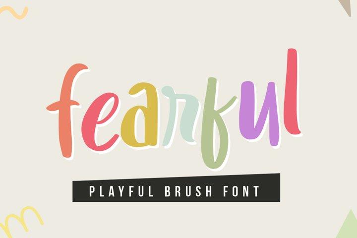Fearful - Playful Brush Font