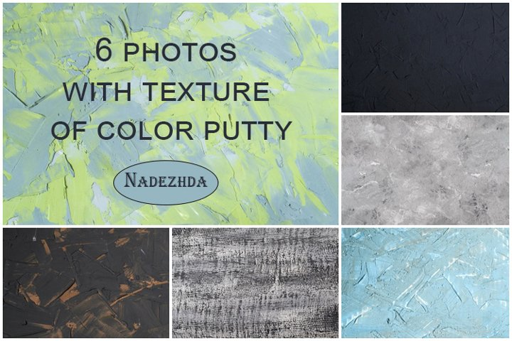 Texture of color putty