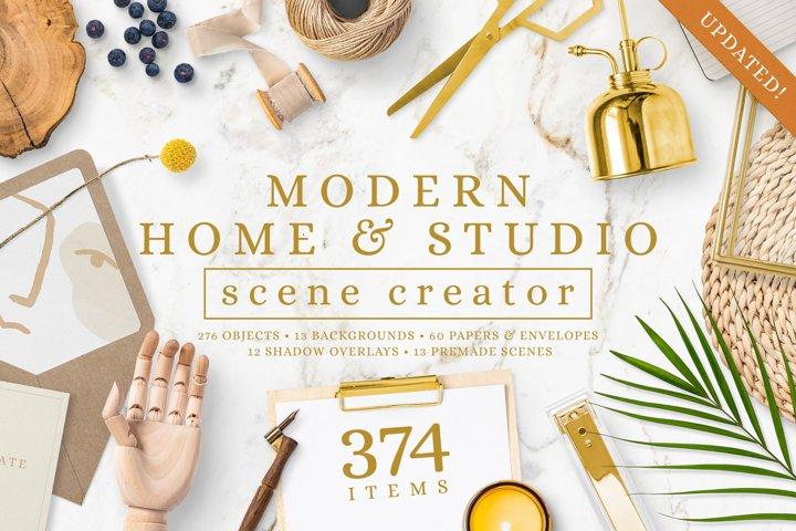 Modern Home & Studio Scene Creator