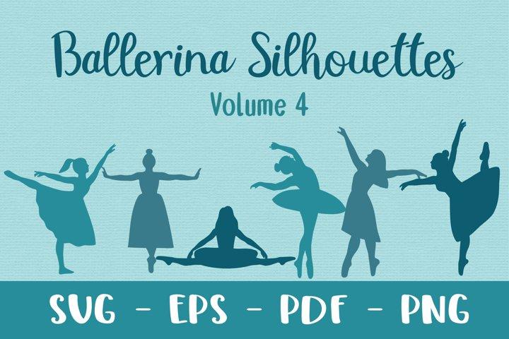 Ballerina Vector Silhouettes Volume 4