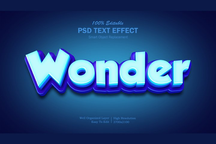 3D Wonder Text Effect