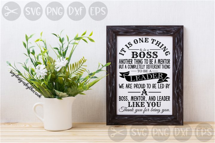 Boss, Leader, Mentor, Office, Workplace, Cut File, SVG.
