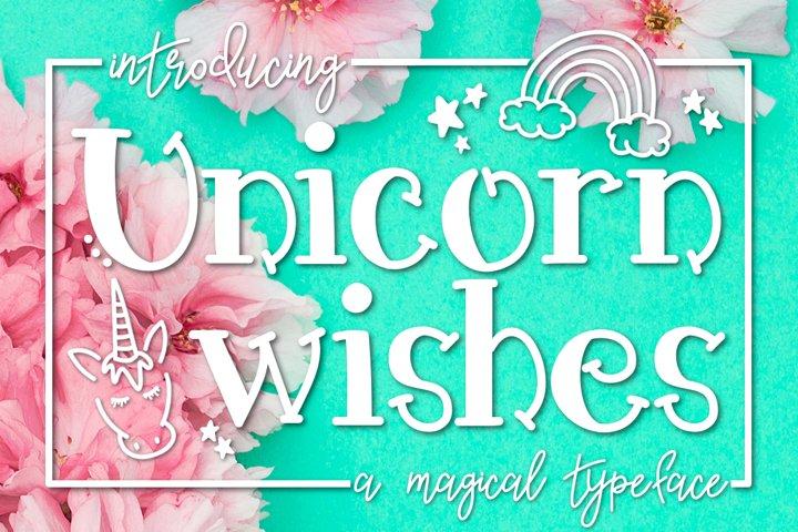 Unicorn Wishes a Handwritten Typeface