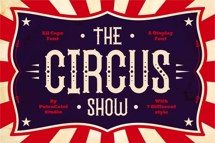 The Circus Show - Free Font Of The Week Font
