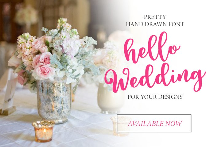 Hello Wedding - Free Font of The Week Design3