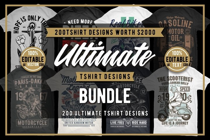 200 Tshirt Designs Bundle