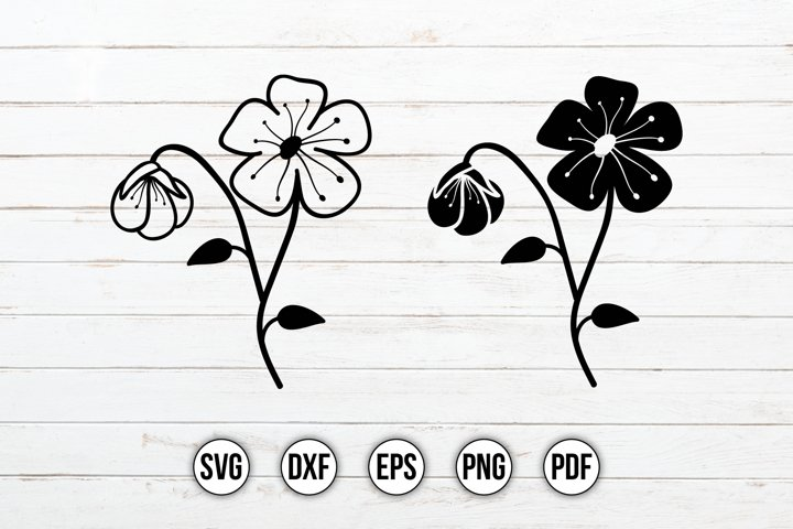 Wildflowers SVG, Flower Design, Floral SVG