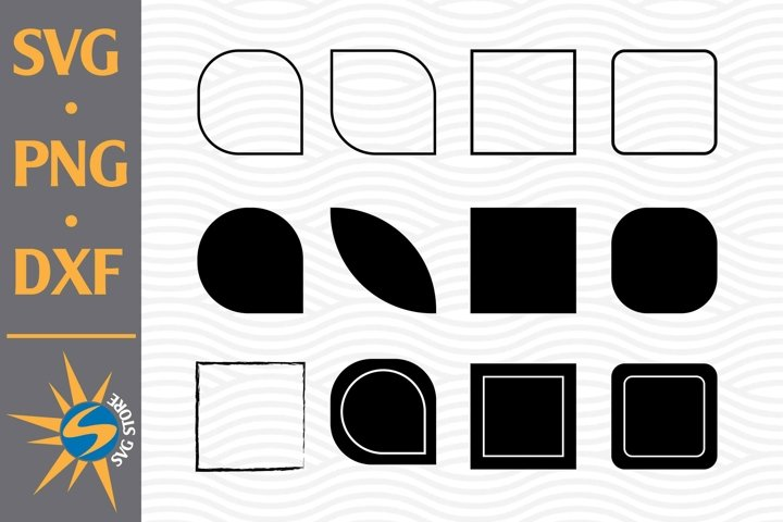 Square Silhouette SVG, PNG, DXF Digital Files Include