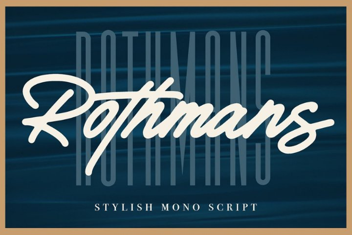 Rothmans - Font Duo Free Version