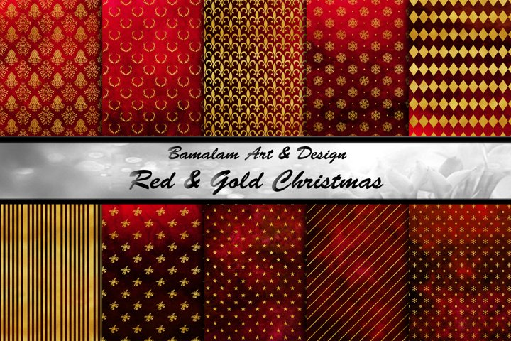 Red & Gold Christmas Papers