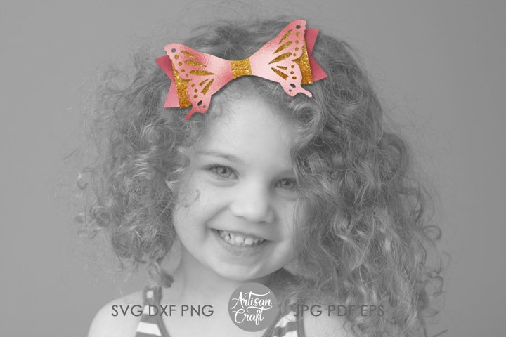 Butterfly bow template, SVG cut files example 5