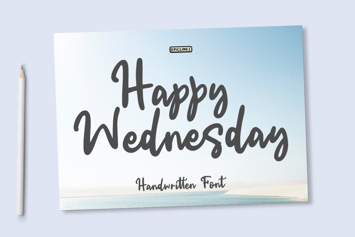 Happy Wednesday | Handwritten Font