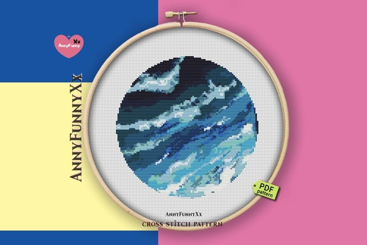 Ocean cross stitch pattern PDF