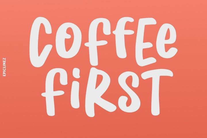Coffee First | Handwritten Font