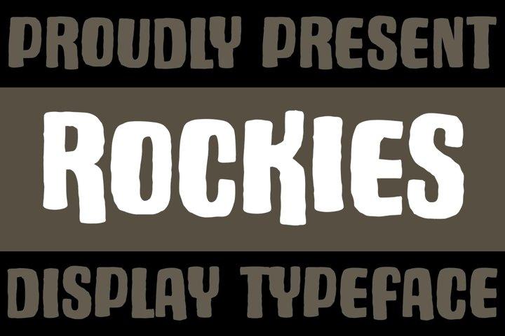 Rockies - Rough Font
