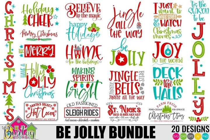 Be Jolly Christmas SVG Bundle | Christmas SVG Files