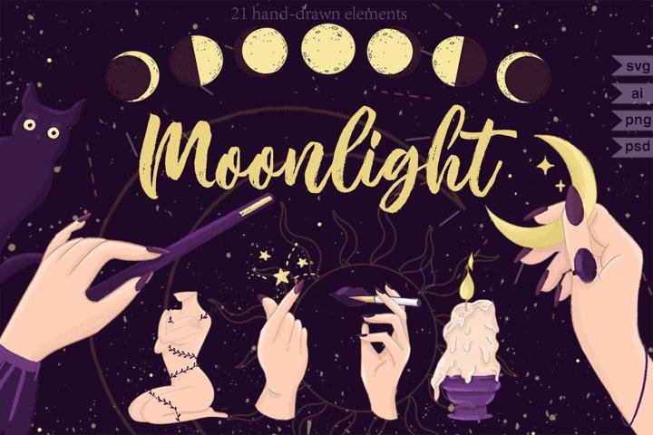 Moonlight Magic vector set