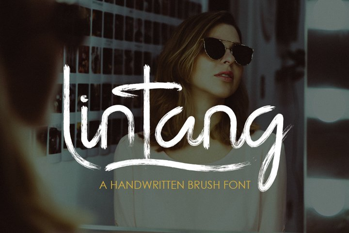 Lintang - handwritten brush font