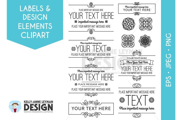 Digital Frames Labels Clipart, Digital Borders