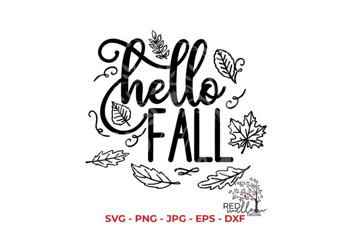 Fall SVG, Hello Fall SVG