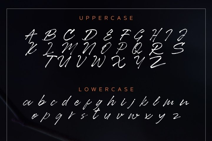 Ancient Handbrush Typeface example 6