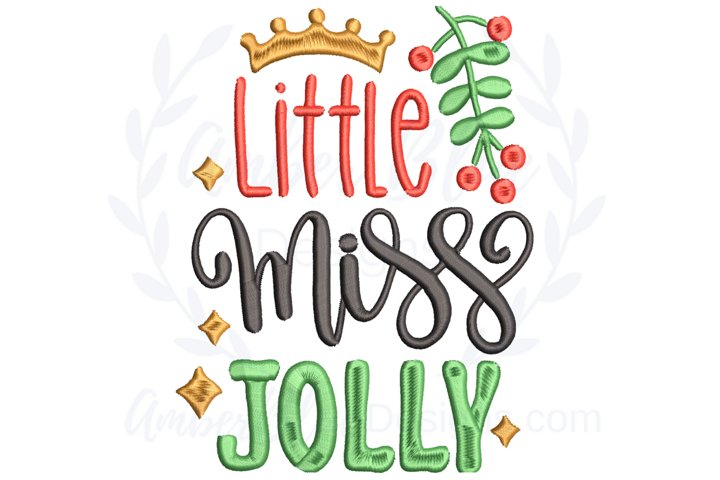 Little Miss Jolly Embroidery File