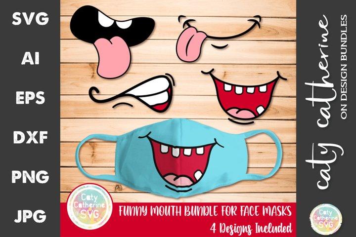 Funny Mouth Bundle for Face Masks SVG Cut File
