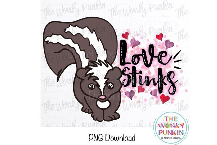 Love Stinks Skunk Sublimation Png File