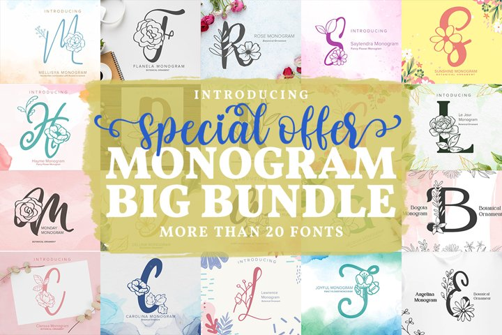 Monogram Font Bundle