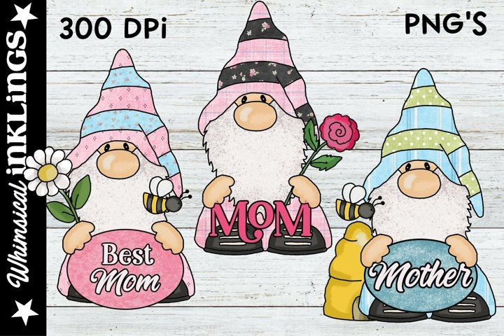 Mothers Day Gnomes Sublimation Clipart