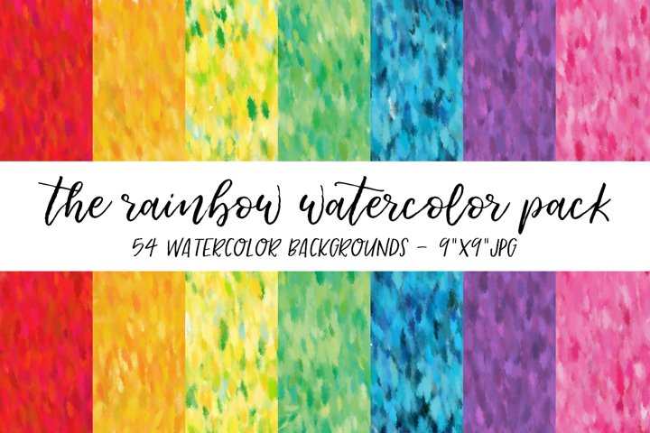 Rainbow Watercolor Backgrounds
