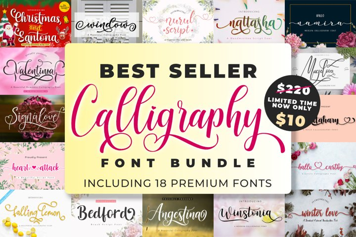 Best Seller Calligraphy Font Bundle