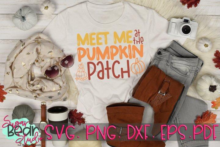 Meet Me At The Pumpkin Patch - A Fall SVG