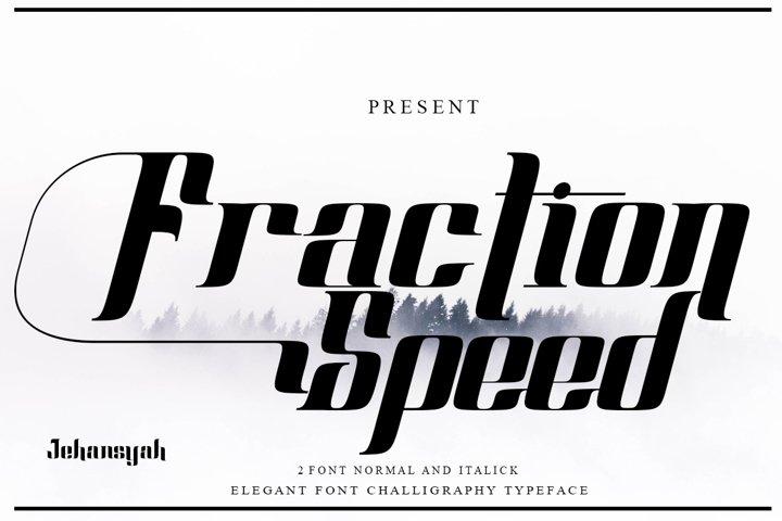 Fraction Speed elegant font