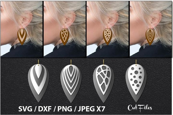 leather earring svg, feather earring svg, earrings svg