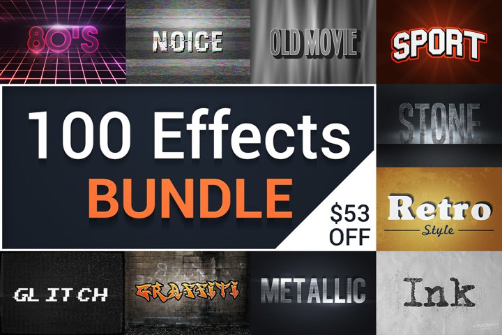 Text Effects Styles Bundle for Photoshop