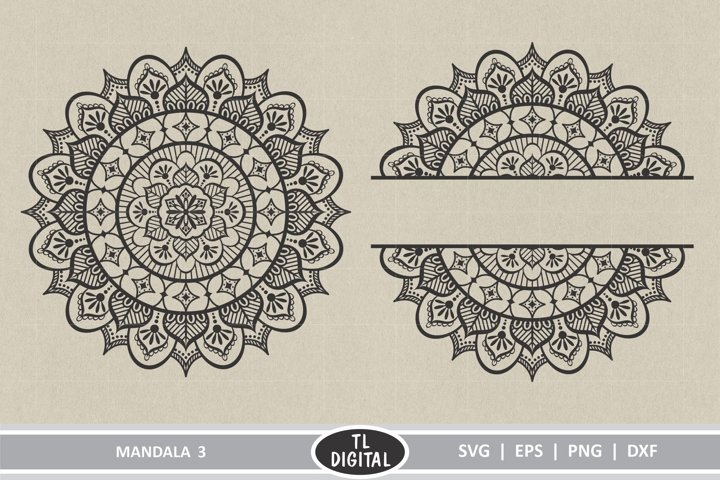 Mandala Design 3 - Boho Graphic - SVG | EPS | PNG | DXF