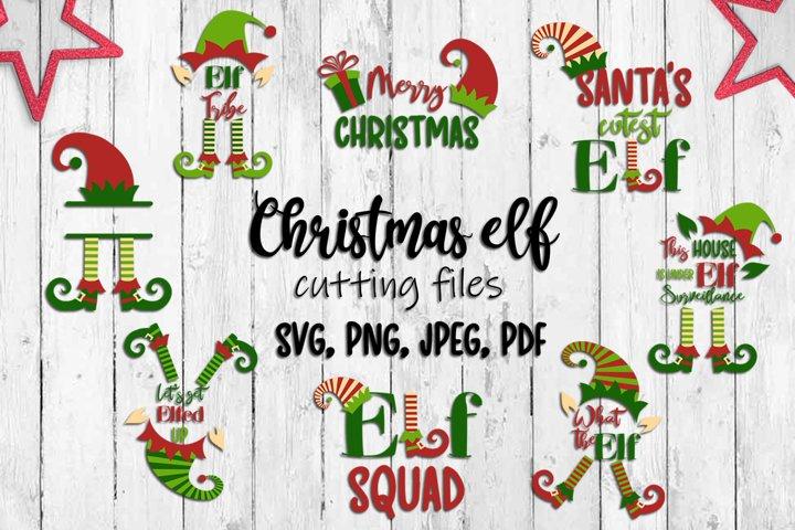 Christmas elf set. Svg cutting files.