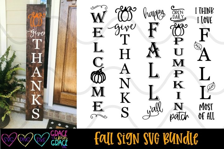 Fall Porch Sign Leaner Bundle