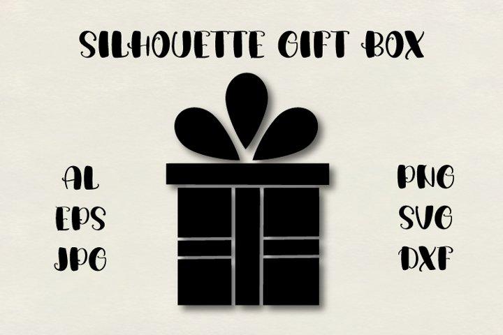 Gift silhouette SVG, present box SVG, Christmas SVG