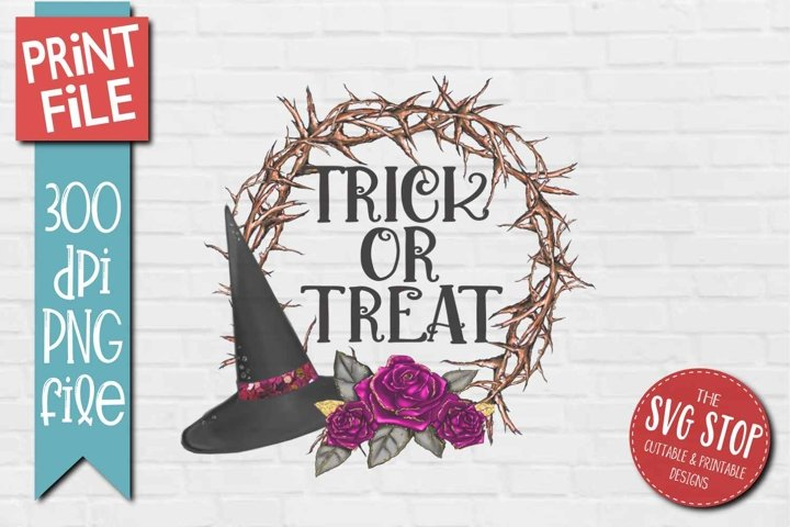 Sublimation Design for Halloween Trick or Treat