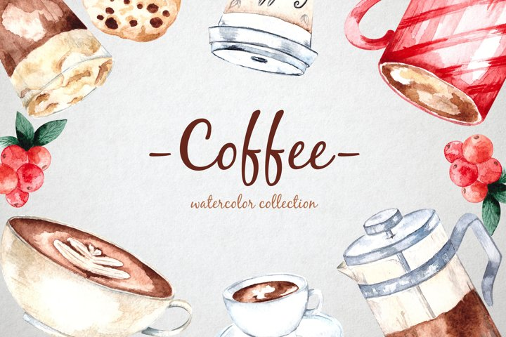 Coffee Watercolor Collection
