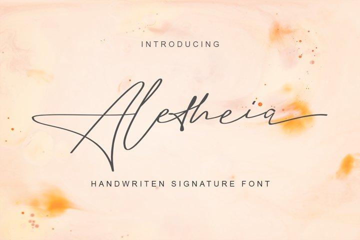 Aletheia   A Handwritten Signature Font