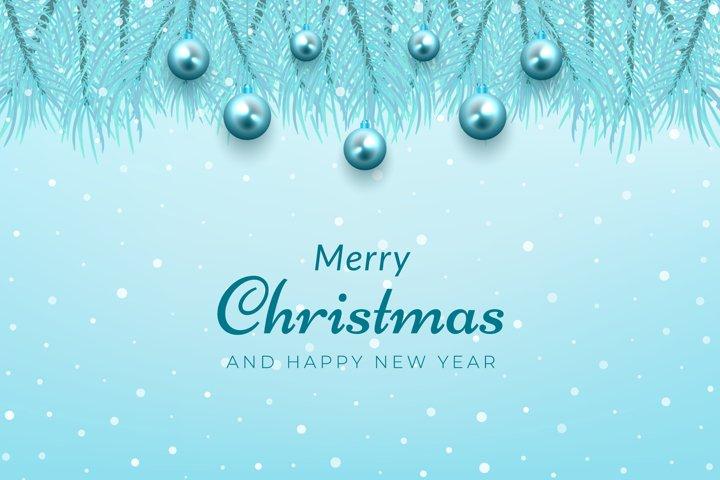 Winter christmas celebration background