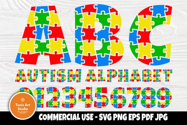 Autism Font SVG, Autism Alphabet, Svg Cut Files, Letters Svg