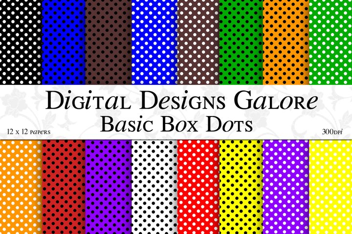 Basic Box Dots Digital Paper Pack