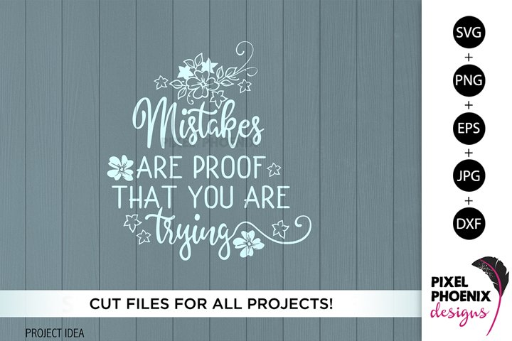 Mistakes are proof, Craft SVG, Craft Room SVG, Crafters